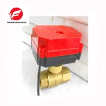 brassDN15 DN25 DN32 CWX-60P 6nm 8s 24v dc electric actuator valve