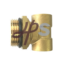 3 way brass fitting for floor heating system manifold parts