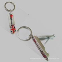 London Souvenir Metal Promotion Nail Cut with Keychain (F1801)