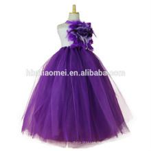 2017 nouveau design princesse tutu robe à la main robe de bal étage longueur floral puffy robe pour les filles