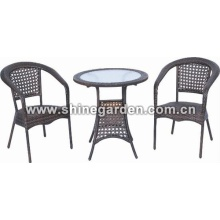 Outdoor Furniture-3 Piece Patio Leisure Wicker Set