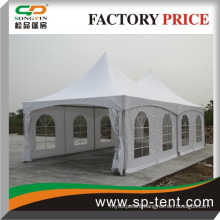 High peak tension canopy tent 5x10m for events (Two 5m by 5m white high peak frame tents side by side )