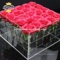 Jinbao cristal presente decoração acrílico frame calendário sapato caixa de exibição racks
