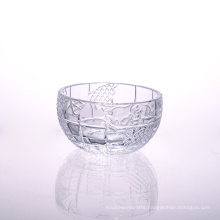 Lead Free Embossed Patterned Round Salad Bowl