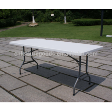 White plastic rectangular outdoor folding table  White Plastic rectangular Outdoor Folding Table