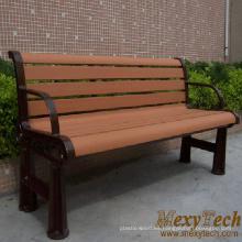 Jardín de Material compuesto de madera y banco largo de la calle, parque, 1500X610X750mm