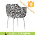 Persönlichkeit Zebra-Stripe Stoff Polsterstuhl Alibaba Bar Stühle Für KTV / Café / Zimmermöbel