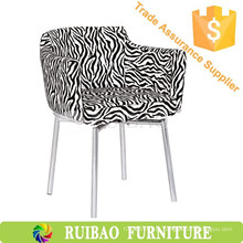Personalidade Zebra-Stripe Estofada de estofamento de tecido Alibaba Bar Cadeiras para KTV / Coffee Shop / Room Furniture