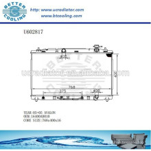 Radiador de aluminio para TOYOTA AVALON 05- 16400AD010 Fabricante y Venta directa