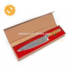 Alibaba chine meilleur vente multifonction haute vitesse 8 pouces couteau en acier damas avec boîte en carton doré