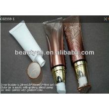 Crema bomba tubos de cosméticos squeeze