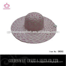 Wholesale Paper ladies top hat sun visor hat