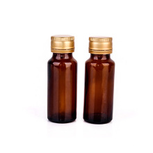 Factory sale 20ml round amber oral liquid bottle syrup medicine glass bottle with screw cap