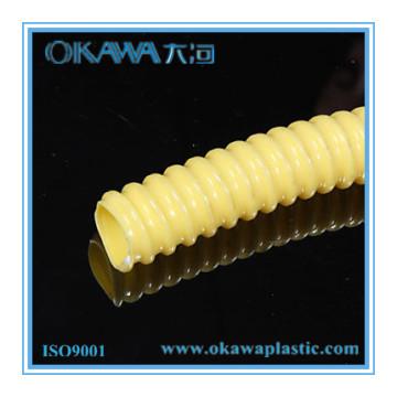 Flexible Yellow Spiral PVC Reinforced Tubing