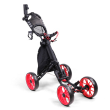 New 4 Wheel Golf Push Cart Golf Trolley