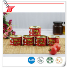 Fine Tom Brand Tinned Sour and Sweet Flavor Tomato Paste
