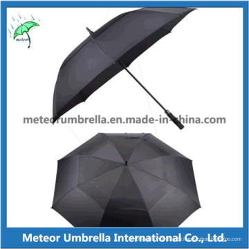 Qualität Automatische offene Glatte Fiberglas Golf Regenschirm