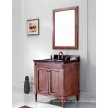 Gabinete de baño moderno reflejado gabinete principal de madera uno (JN-8819715A)