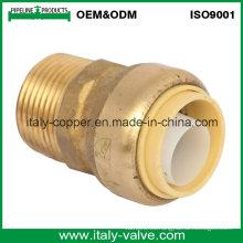 OEM y ODM La calidad del latón empuja conecta el adaptador masculino (IC-1020)