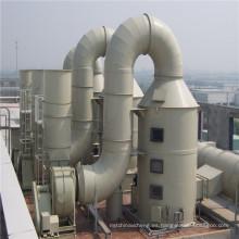 Torre de desulfuración GRP / FRP para sistema de gas residual