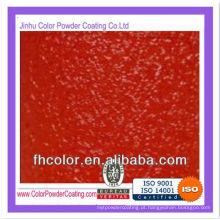 Red wrinkle powder coating