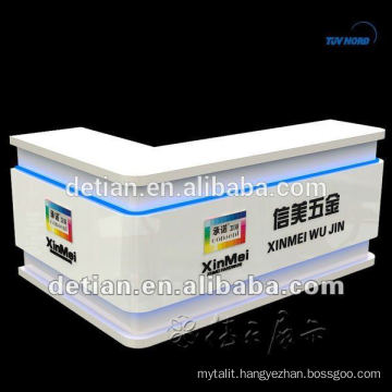 Cambered artificial marble Solid Surface Salon Reception Desk Cambered artificial marble Solid Surface Salon Reception Desk