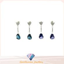 2015 nuevos pendientes Earring E6350 de la manera de la señora Fashion Style Silver Water Drop de la vendimia de la vendimia de la joyería