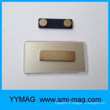 Insigne badge en plastique rectangulaire en blanc