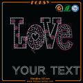 Pink Love rhinestone words Your Text design