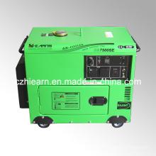 Gerador diesel silencioso de 5.5kw modelo portátil (DG7500SE)