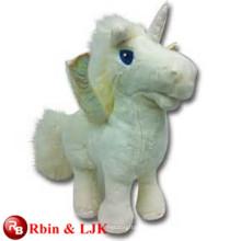 Conozca EN71 y ASTM estándar ICTI peluche de juguete de fábrica de peluche de juguete de felpa unicornio