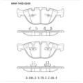 Almohadillas de freno de automóvil semi-metálicas OE: 34110300361, 34112284065, 34116763652, 34116764312, 34116768287 para pastillas de freno BMW