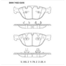 Almofadas de travão semi-metálicas OE: 34110300361, 34112284065, 34116763652, 34116764312, 34116768287 para o travão de travão BMW