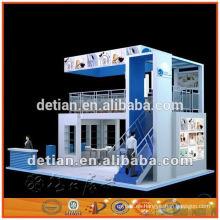 Cabina de doble cubierta abierta de tres lados de 6 m * 6 m, stand de sistema modular de stands para exhibiciones