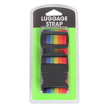Webbing luggage belt strap with TSA lock