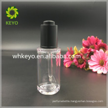 40ml transparent thick wall PETG dropper bottle with press pump and pipette