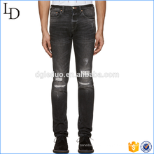 Wholesale new fashion washed jeans pants ripped jeans