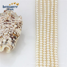 AAA-5mm Round Pearl Strand Freshwater Natural White Pearl Strand