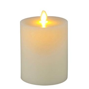 Bewegende vlam Flat Top vlamloze Pillar Candle