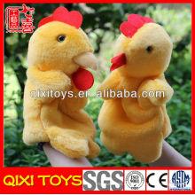 muñeco de peluche de dibujos animados de felpa y peluche juguetes marioneta de mano de pollo