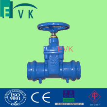 DIN Cast Iron Resilient Seated Socket End Gate Valve