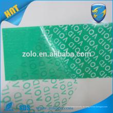 Chinesisch xxx Film Custom Anti-Counterfeiting Tamper-Proof Garantie VOID Seal Aufkleber, selbstklebendes Klebeband