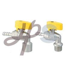 válvula de bola de gas de latón (tipo de ángulo)
