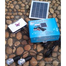 Système d'éclairage d'éclairage solaire de marchés ruraux LED dans des pièces de haute qualité