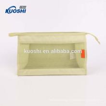 sac de toilette cosmétique transparent de voyage de vinyle pour les hommes