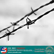 Alambre de púas calado eléctrico / caliente de alta calidad y alambre de púas galvanizado
