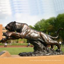 Tier Metall Bronze Garten Metall Handwerk lebensgroße Bronze Tiger Statue