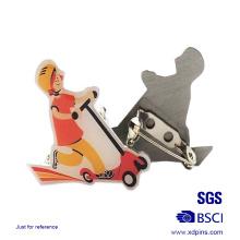 Barato impresión solapa Pin Metal hecho (xd-08266)