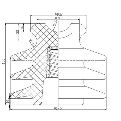 Pin insulator BS series P-22-Y