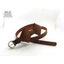 PU Lady′s Fashion Belt with Tie Decoration (KY5380)